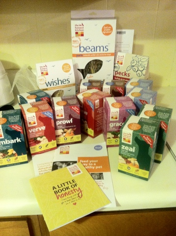 A variety of products from The Honest Kitchen!