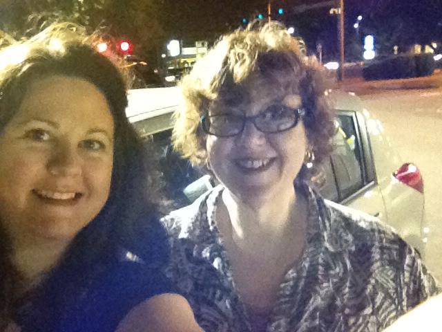 Jen and Jan at the drop-off!