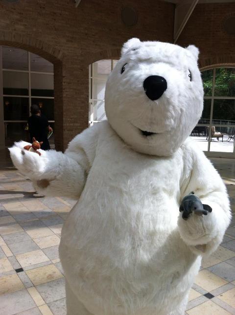 Ellie and Edmond and their friend Polar Bear!