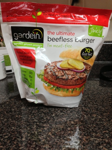 There is 16 grams of protein in each of these meatless burger patties.
