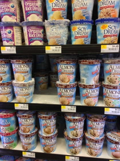 So many choices for ice cream substitutes!