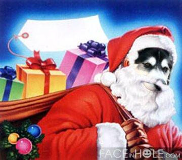 Rumpy as Santa