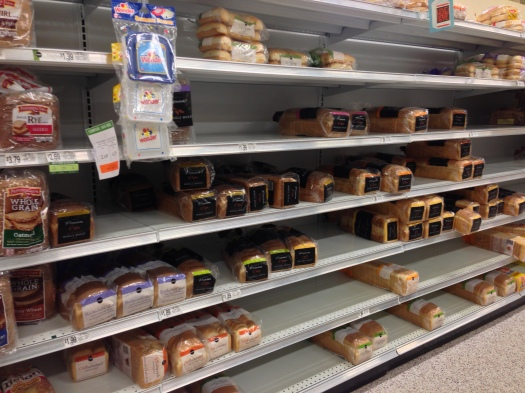 Bread sells out no matter the weather emergency!