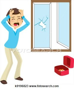 A clipart representation of how I felt this morning when I realized I'd have to pay to get the window fixed (clipart from pixgood.com).