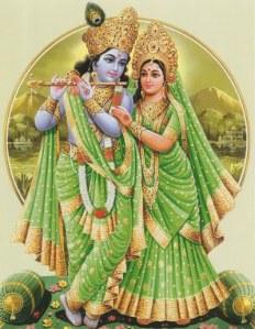 God krishna with Radha