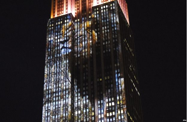 #BlackLivesMatter pointed out that Cecil's death led to this million-dollar projection on the side of the Empire State Building, while nothing was done about the deaths of blacks at the hands of law enforcement.