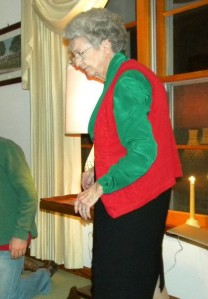 My great-aunt Elease. In her 90s and still going strong.