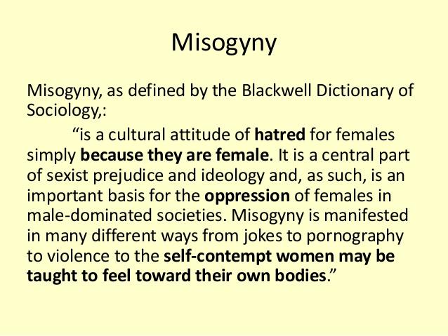 Misogyny Definition